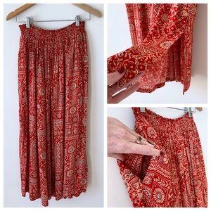VTG 🌵 Jones NY Boho Maxi / Ankle Skirt w Pockets